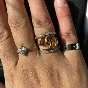Cartier love ring white gold size 49